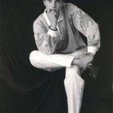 Christian Fassetta posa per un ritratto in bianco e nero.