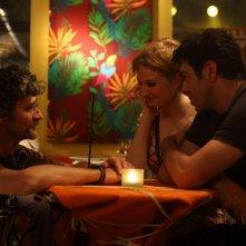 Pierfrancesco Favino e Alba Rohrwacher con il regista Silvio Soldini sul set del film Cosa voglio di più