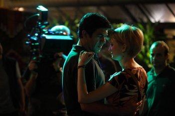 Pierfrancesco Favino e Alba Rohrwacher sul set del film Cosa voglio di più