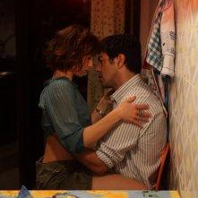Teresa Saponangelo e Pierfrancesco Favino in una sequenza del film Cosa voglio di più