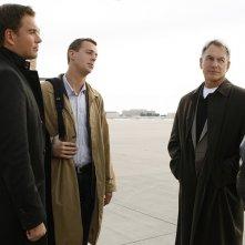 Michael Weatherly, Sean Murray, Mark Harmon e Chris Bruno nell'episodio Ignition di Navy NCIS