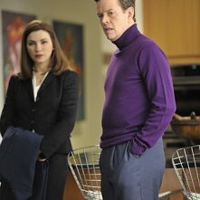 Julianna Margulies e Dylan Baker nell'episodio Bad di The Good Wife