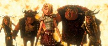 Ruffnut, Snotlout, Astrid, Fishlegs e Tuffnut sono alcuni dei protagonisti del film Dragon Trainer