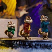 Alvin, Theodore e Simon sono i tre simpatici protagonisti del film Alvin Superstar 2