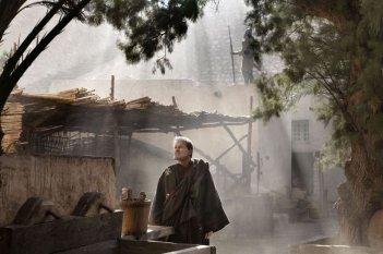 Franco Nero in una scena del film TV su Sant'Agostino