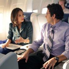 Hannah (Kristin Kreuk) e Chuck (Zachary Levi) in una scena dell'episodio Chuck Vs. First Class