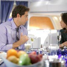Zachary Levi e Kristin Kreuk in una sequenza dell'episodio Chuck Vs. First Class