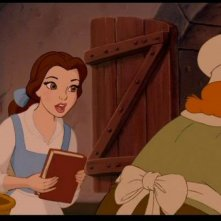 Belle in una scena del cartoon-musical La bella e la bestia (1991)