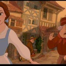 Belle in una scena del film animato La bella e la bestia (1991)