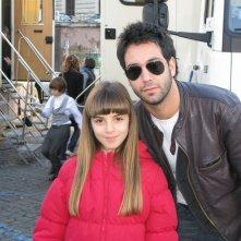 Angelica Cinquantini con Matteo Branciamore sul set de I Cesaroni 3
