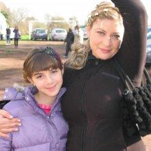 Angelica Cinquantini e Claudia Muzi sul set della quarta stagione de I Cesaroni