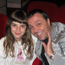Angelica Cinquantini e Gabriele Cirilli durante una serata di beneficenza al Teatro Parioli.