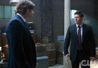 Jared Padalecki e Jensen Ackles in una scena dell'episodio My Bloody Valentine di Supernatural