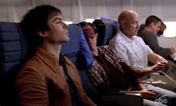 Terry O'Quinn e Ian Somerhalder in una scena di LAX: Part 1 dalla sesta stagione di Lost