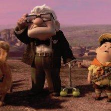 Dug, Carl e Russell, protagonisti del corto inedito La missione di Dug contenuto nel blu-ray e nel dvd di Up