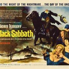 Lobby card promozionale a colori del film I tre volti della paura ( 1963 )