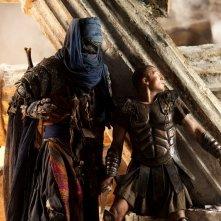 Sam Worthington in un'intensa sequenza di Clash of the Titans