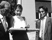 Fabio Nova in una sequenza del film Tre Storie.