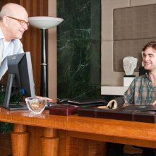 Il regista Allen Coulter e l'attore Robert Pattinson sul set del film Remember Me