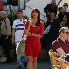 Bianca Guaccero sul set della fiction Capri 3