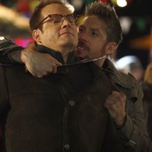 Jack Coleman e Ray Park in una scena di Brave New World dalla quarta stagione di Heroes