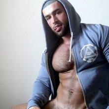 La star del porno gay Francois Sagat in un'immagine sexy