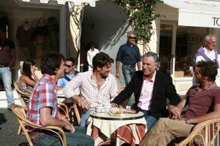 Lando Buzzanca, Fabio Ghidoni, Fabrizio Nevola e Gabriele Greco in una scena della fiction Capri 3
