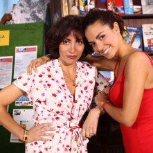 Laura Barrales e Antonella Stefanucci sul set di Capri 3
