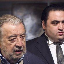 Il regista Pupi Avati con Nicola Nocella sul set del film Il figlio più piccolo