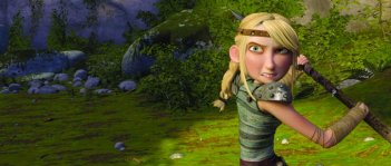 Astrid in un'immagine del film Dragon Trainer