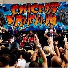 Un'immagine della band Nais Nois nel film Una canzone per te