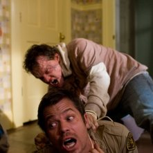 Una sequenza movimentata del film The Crazies con Timothy Olyphant e Justin Welborn