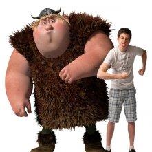 Christopher Mintz-Plasse e il suo personaggio Fishlegs per il film Dragon Trainer
