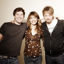 Mark Duplass, Lynn Shelton e Joshua Leonard sul set del film Humpday