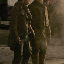 Ancora un'immagine di Andy Serkis e Simon Pegg sul set di Burke and Hare