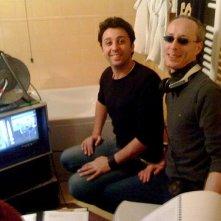 Il regista Giuseppe Lazzari sul set del film Sentirsi dire