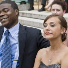 Rashida Jones e Tracy Morgan in una scena del film Cop Out