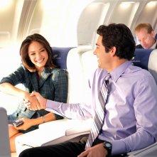 Chuck (Zachary Levi) conosce Hannah (Kristin Kreuk) in un momento dell'episodio Chuck Vs. First Class