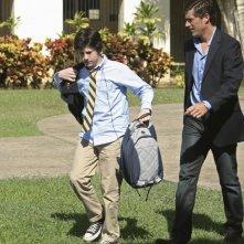 Dylan Minnette e Matthew Fox nell'episodio Lighthouse di Lost
