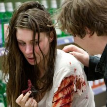 Rooney Mara (Nancy Thompson) e Kyle Gallner (Quentin) in una scena del film Nightmare on Elm Street