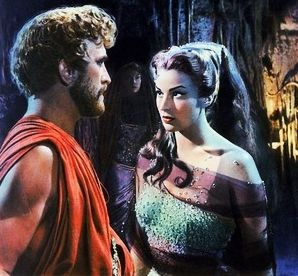 Silvana Mangano e Kirk Douglas in Ulisse (1955)