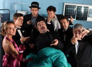 Una foto promozionale del cast di Boris 3 con Paolo Calabresi, Alessandro Tiberi, Caterina Guzzanti, Antonio Catania, Ninni Bruschetta, Pietro Sermonti e Francesco Pannofino