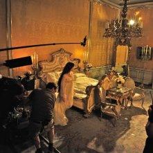 Un momento delle riprese della fiction Sissi