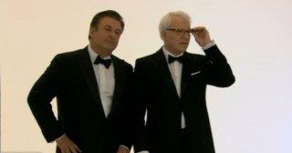 Gli host dell'edizione 2010 degli Academy Awards: Alec Baldwin e Steve Martin