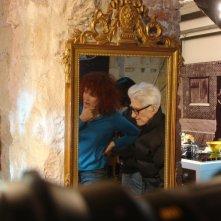 Sabine Azéma e il regista Alain Resnais sul set del film Gli amori folli