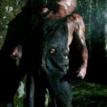 Il mostruoso Victor Crowley (Kane Hodder) nell'horror Hatchet
