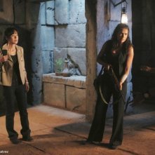 Jeff Fahey, Yunjin Kim, Zuleikha Robinson e Ken Leung nell'episodio Sundown di Lost