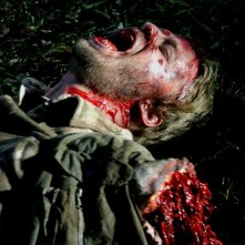 Joshua Leonard è Ainsley, trasfigurato da una carneficina nell'horror Hatchet