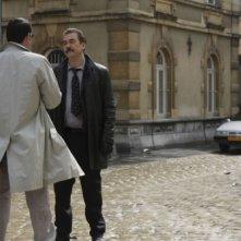 Olivier Marchal in una sequenza del film poliziesco Diamond 13