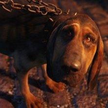 Un'immagine del cane Bloodhound in Alice in Wonderland
